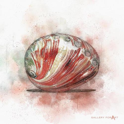 Artur Wasielewski, SHELL OWHITE ABALONE-RED, Decorative Art, Still life, Modern Age