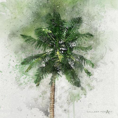 Artur Wasielewski, PALM GREEN BEAUTY-03, Plants: Palm, Landscapes: Tropics, Modern Age