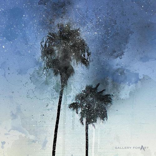 Artur Wasielewski, PALMS BEACH BOULEVARD-1, Plants: Palm, Landscapes: Tropics, Modern Age