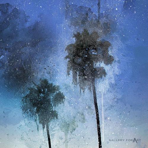 Artur Wasielewski, PALMS BEACH BOULEVARD-2, Plants: Palm, Landscapes: Tropics, Modern Age
