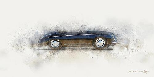 Artur Wasielewski, CAR PORSCHE 356 spyder, Traffic: Car, Movement, Modern Age