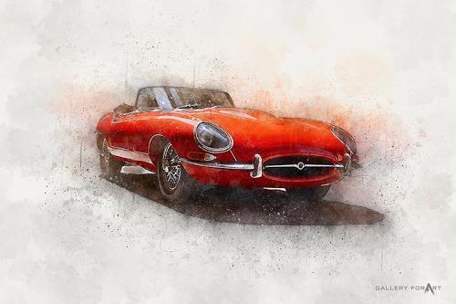 Artur Wasielewski, CAR JAGUAR S TYPE, Traffic: Car, Movement, Modern Age, Expressionism