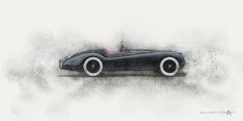 Artur Wasielewski, CAR JAGUAR XK 140, Traffic: Car, Movement, Modern Age