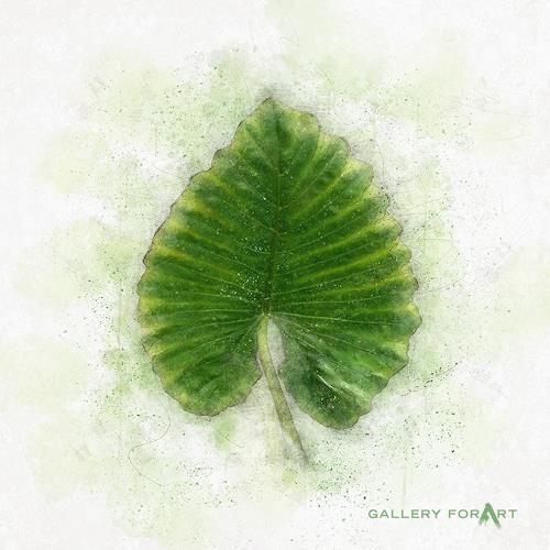 Artur Wasielewski, TROPICAL LEAF GREEN - 03, Miscellaneous Plants, Landscapes: Tropics, Modern Age