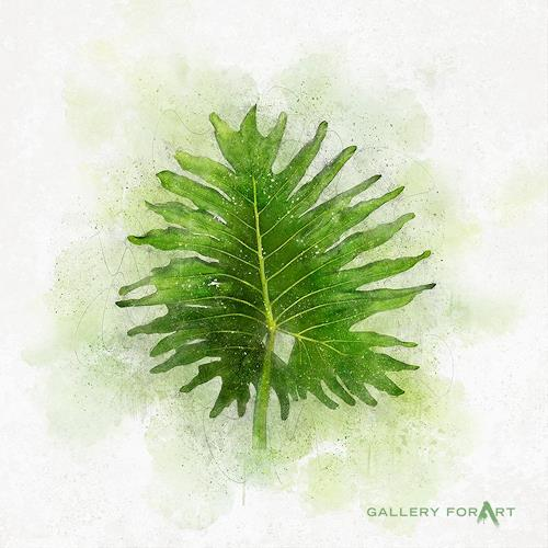 Artur Wasielewski, TROPICAL LEAF GREEN - 02, Miscellaneous Plants, Landscapes: Tropics, Modern Age