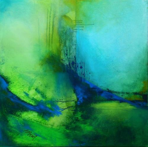 Agnes Lang, Mai-Impressionen lV, Abstract art, Landscapes: Spring, Contemporary Art, Expressionism