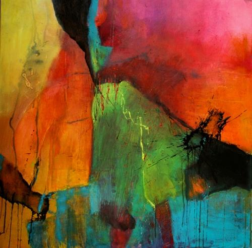 Agnes Lang, Turmalin, Abstract art, Fantasy, Contemporary Art, Expressionism