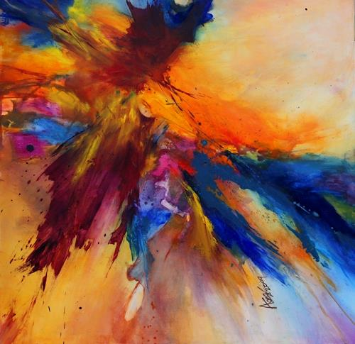 Agnes Lang, Butterfly ll, Abstract art, Miscellaneous, Contemporary Art
