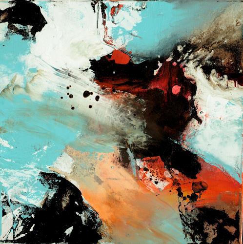Agnes Lang, kleine Werke-Spiel mit Farbe und Form, Abstract art, Movement, Contemporary Art