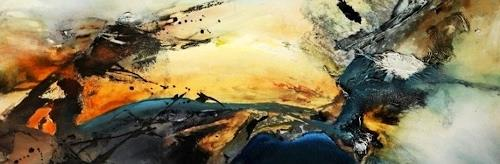 Agnes Lang, o.T., Abstract art, Landscapes: Summer, Contemporary Art