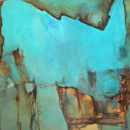 Agnes Lang, Waterworld ll, Abstract art, Nature: Water, Contemporary Art, Expressionism