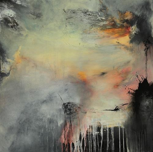 Agnes Lang, nach Regen kommmt Sonne.., Abstract art, Fantasy, Contemporary Art, Expressionism