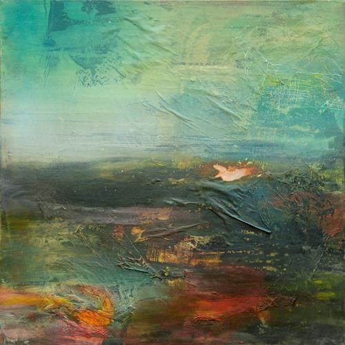 Agnes Lang, Horizont lll, Abstract art, Landscapes: Autumn, Contemporary Art, Abstract Expressionism