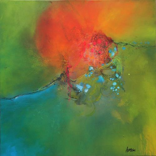 Agnes Lang, nonchalance, Fantasy, Landscapes: Spring, Abstract Art, Expressionism
