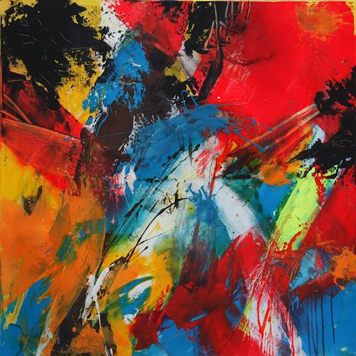 Agnes Lang, Speed I, Movement, Abstract art, Action Painting, Abstract Expressionism