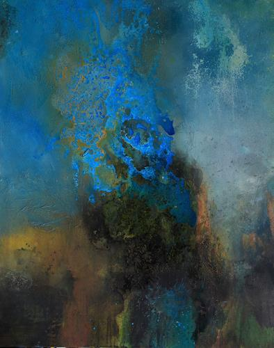 Agnes Lang, Azurit I, Fantasy, Abstract art, Contemporary Art, Expressionism