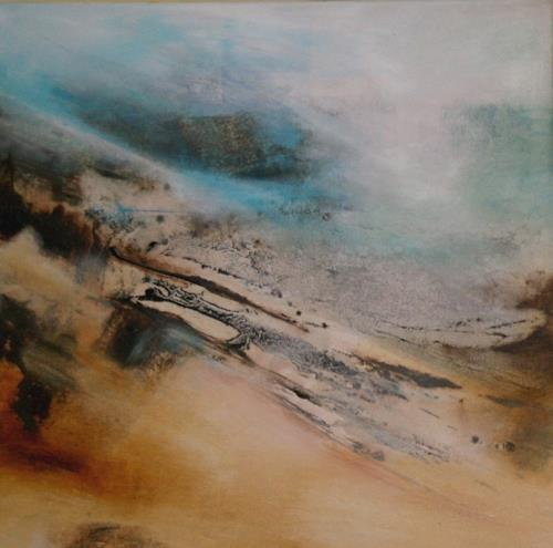 Agnes Lang, arktische Reise II, Landscapes: Hills, Abstract art, Non-Objectivism [Informel], Abstract Expressionism