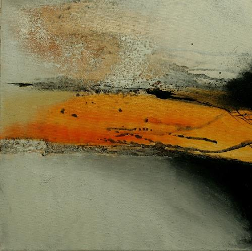 Agnes Lang, o.T.6, Abstract art, Landscapes: Plains, Non-Objectivism [Informel]