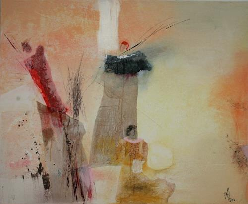 Agnes Lang, die 3 Grazien, Abstract art, People: Group, Modern Age, Expressionism