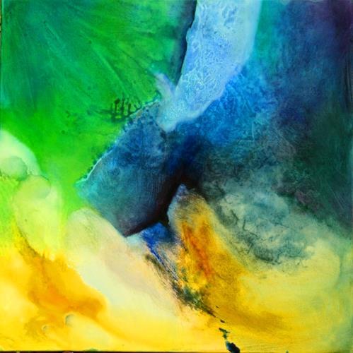 Agnes Lang, Mai-Impressionen ll, Abstract art, Fantasy, Contemporary Art