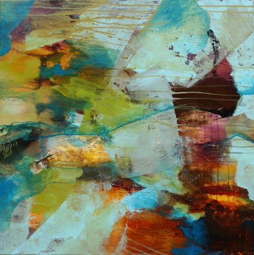 Agnes Lang, im Reich der Meerjungfrau, Abstract art, Fantasy, Contemporary Art, Expressionism