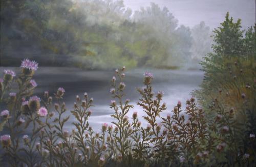 hofmannsART, Früher Morgen, Nature: Water, Miscellaneous Landscapes, Realism, Expressionism