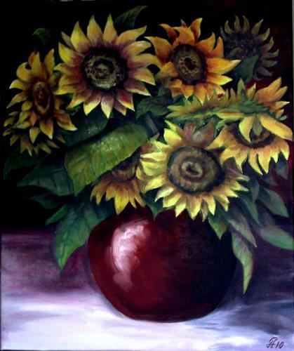 hofmannsART, Sonnenblumenstrauß, Still life, Plants: Flowers, Realism
