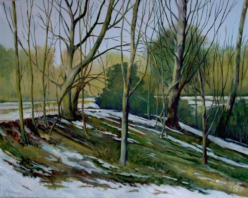 hofmannsART, Tauwetter, Times: Spring, Landscapes: Spring, Neo-Impressionism, Expressionism