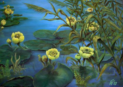 hofmannsART, Teichrosen, Plants: Flowers, Miscellaneous Plants, Realism, Expressionism