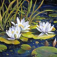 hofmannsART-Nature-Water-Plants-Flowers-Modern-Age-Impressionism