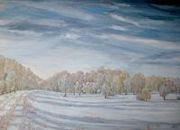 hofmannsART-Landscapes-Winter-Times-Winter-Modern-Age-Impressionism-Neo-Impressionism