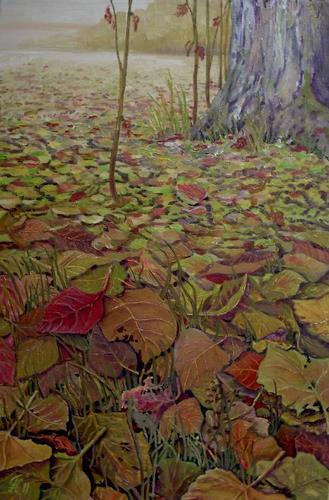 hofmannsART, Herbstlaub, Nature: Miscellaneous, Plants: Trees, Naturalism, Expressionism