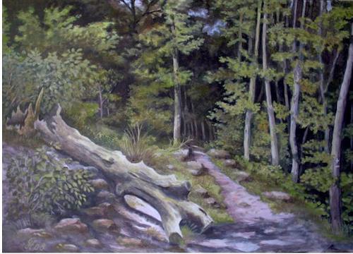 hofmannsART, Wanderweg im Pfälzer Wald, Miscellaneous Landscapes, Nature: Wood, Abstract Art