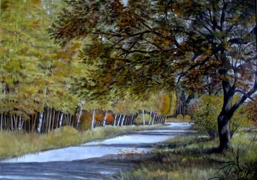 hofmannsART, Schattiger Weg, Miscellaneous Landscapes, Abstract Art, Expressionism
