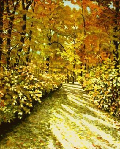 hofmannsART, Herbstsonne im Pfälzer Wald, Nature: Wood, Landscapes: Autumn