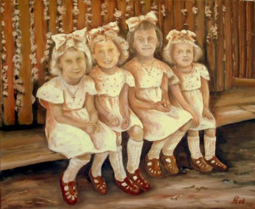 hofmannsART, Neue Sonntagskleidchen, People: Children, People: Group, Realism