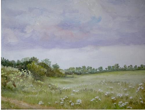 hofmannsART, Am Wegrand, Landscapes: Plains, Landscapes: Spring, Naturalism, Expressionism