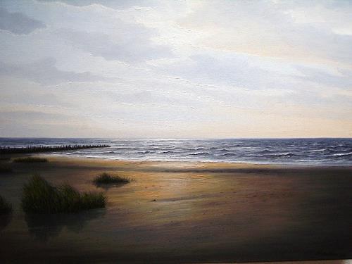 Lothar Strübbe, An der Nordsee in Ostfriesland, Landscapes: Sea/Ocean, Nature: Water, Naturalism