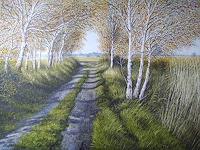 Lothar-Struebbe-Landscapes-Autumn-Landscapes-Plains-Modern-Age-Naturalism