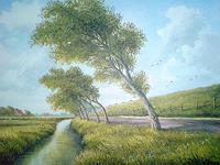 Lothar-Struebbe-Landscapes-Plains-Landscapes-Summer-Modern-Age-Naturalism