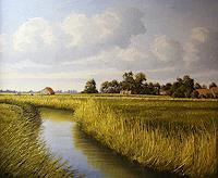 Lothar-Struebbe-Landscapes-Summer-Nature-Water-Modern-Age-Naturalism