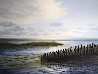 Lothar-Struebbe-Landscapes-Beaches-Nature-Water-Modern-Age-Naturalism