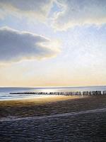 Lothar-Struebbe-Landscapes-Sea-Ocean-Landscapes-Beaches-Modern-Age-Naturalism