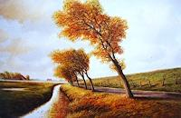 Lothar-Struebbe-Landscapes-Autumn-Landscapes-Sea-Ocean-Modern-Age-Naturalism