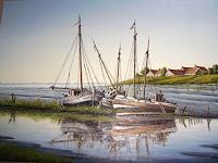 Lothar-Struebbe-Landscapes-Sea-Ocean-Landscapes-Summer-Modern-Age-Naturalism