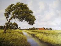 Lothar-Struebbe-Landscapes-Summer-Landscapes-Plains-Modern-Age-Naturalism
