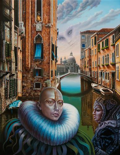 Roland H. Heyder, Carnevale di Venezia, Buildings: Churches, People: Models, Hyperrealism, Abstract Expressionism