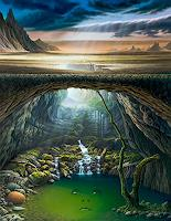 Roland-H.-Heyder-Landscapes-Mountains-Nature-Water-Contemporary-Art-Post-Surrealism