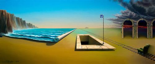 Roland H. Heyder, U (Subway), Landscapes: Sea/Ocean, Architecture, Post-Surrealism, Abstract Expressionism