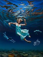Roland-H.-Heyder-People-Women-Nature-Water-Modern-Age-Photo-Realism-Hyperrealism